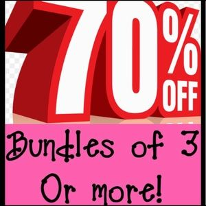 2 DAY SALE!! ENJOY 70% OFF BUNDLES OF 3 OR MORE!